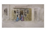 Women and Children at a Shop Door, c.1888 Posters by James Abbott McNeill Whistler