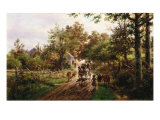 Country Ride, 1888 Giclee Print by Edward Lamson Henry