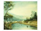View of the Erie Canal Giclee Print by George Harvey