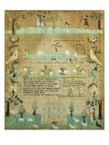 Fine Needlework Sampler. Probably Newport, Rhode Island, 1803 Giclee Print