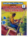 Practical Mechanics, Wind Power Turbine Global Warming Alternative Magazine, UK, 1954 Art