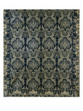 Rare Cotton and Wool Double Woven Jacquard Coverlet Giclee Print by William Kerns