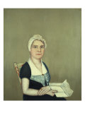 Sarah Cornwall Everest, 1812 Giclee Print by Ammi Phillips