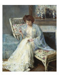 Mending Giclee Print by Adolphe Borie