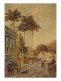 Street Scene, Rio de Janeiro, 1879 Giclee Print by Bernhard Wiegandt