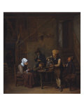 Peasants in an Interior Giclee Print by B. Schaak