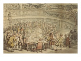 Conversation at the Surgeons Hall, Old Bailey, London Prints by Thomas Rowlandson