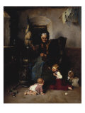 Grandmother's Helpers, 1874 Prints by Friedrich von Keller