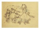Group of Dancers, Groupe de Danseuses, c.1890-95 Prints by Edgar Degas