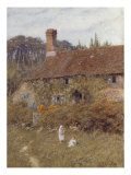 Cottage at Witley, Surrey, 19th Century Poster by Helen Allingham