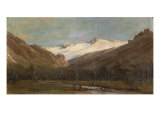 Encampment in the Sierras Giclee Print by Thomas Hill