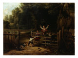 Happy as a King, 1843 Giclee Print by Thomas Worthington Whittredge