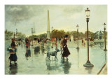 Place de La Concorde Giclee Print by Georges Stein