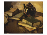Still Life with a Teapot and Books on a Table, c.1926 Art by Samuel John Peploe