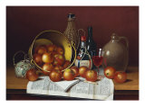 Still Life with Wine and Apples. Hope Giclee Print by Thomas H. Hope