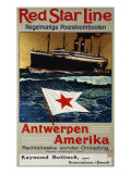 Red Star Line, Antwerpen America, c.1899 Prints