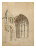 Melrose Abbey: the East Window, c.1770 Giclee Print by Thomas Girtin