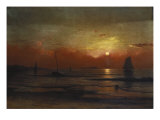 Harbor View at Sunset Giclee Print by Martin Johnson Heade
