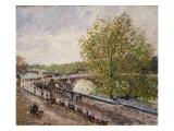 Pont Royal, Grey Weather, Afternoon, Spring, 1903 Prints by Camille Pissarro