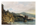 The Coast under Vietri, Salerno in the Distance, 19th Century Giclee Print