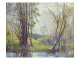 Tender Days Giclee Print by Robert William Vonnoh
