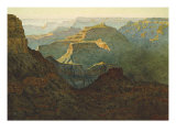 Sunlight on the Grand Canyon, 1924 Reproduction procédé giclée par Gunnar Widforss