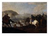 Cavalry Skirmish Giclée-tryk af Aniello Falcone