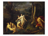 Diana and Actaeon, 1832 Giclee Print by Emil Jacobs