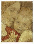 Childhood. Signed, Tempera on Panel Prints by Frederick Cayley Robinson