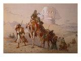 Arab Caravan by a Sphinx, 1868 Giclee Print by Joseph-Austin Benwell