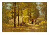 Summer Camp Giclee Print by Theodore Clement Steele