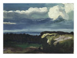 Woodstock Landscape Print by George Wesley Bellows