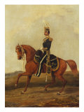 Mounted Officer of 13th Hussars in Full Dress, 19th Century Giclee Print by Henry Thomas Alken