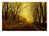 Nocturne in Gold, c.1872 Prints by John Atkinson Grimshaw