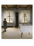 Interior with a Young Girl Serving Tea, 1901 Giclee Print by Peter Ilsted