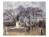 The Central Island on the Pont-Neuf, Henry IV Square, 1902 Giclee Print by Camille Pissarro