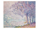 The Seine at St. Cloud, La Seine a St. Cloud, 1903 Giclee Print by Paul Signac