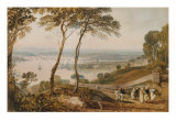 Plymouth Dock, from Near Mount Edgecumbe, 19th Century Giclee Print