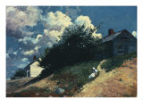 Houses on a Hill, 1879 Posters by Winslow Homer