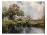 Apple Trees in Blossom Impression giclée par John Appleton Brown