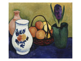 The White Jug with Flower and Fruit, 1910 Poster by Auguste Macke