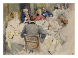 Elegant Dinner Party Prints by Jean Béraud