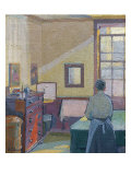 Interior, 1917, Catalogue No 1317C Giclée-Druck von Harold Gilman