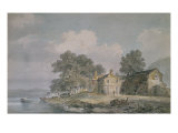 Farmhouse by a Lake in the Lake District, c.1797 Posters by Joseph Mallord William Turner