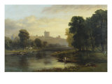 View of Windsor Castle from Across the Thames, 19th Century Giclee Print by George Hilditch