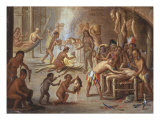 Indians as Cannibals, 17th Century Giclee Print by Jan van Kessel