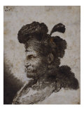 The Head of an Oriental in Profile to the Left, 1635-40 Giclee Print by Giovanni Benedetto Castiglione