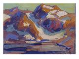 Sierra Mountains Print by Franz Arthur Bischoff