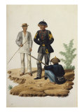 Manila and Its Environs: Officers of the Civil Guard Giclee Print by Jose Honorato Lozano