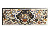 Florentine Pietra Dura Table Top Centred by a Bowl of Fruit and Flowers Gicl&#233;e-Druck